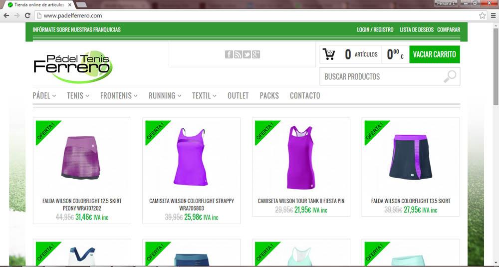 tienda online Pádel Tenis Ferrero