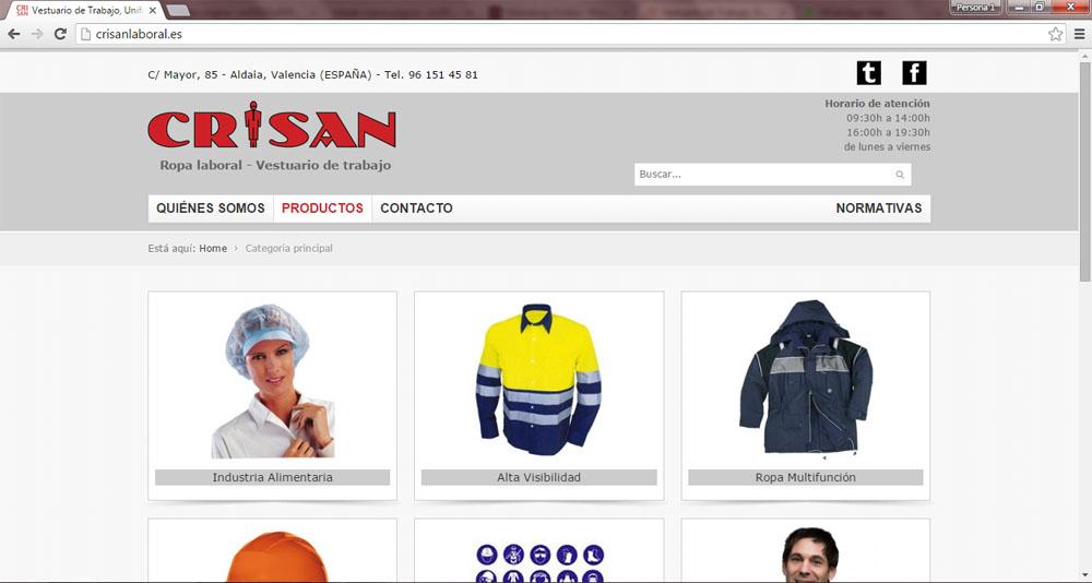 CRISAN Ropa Laboral tienda online